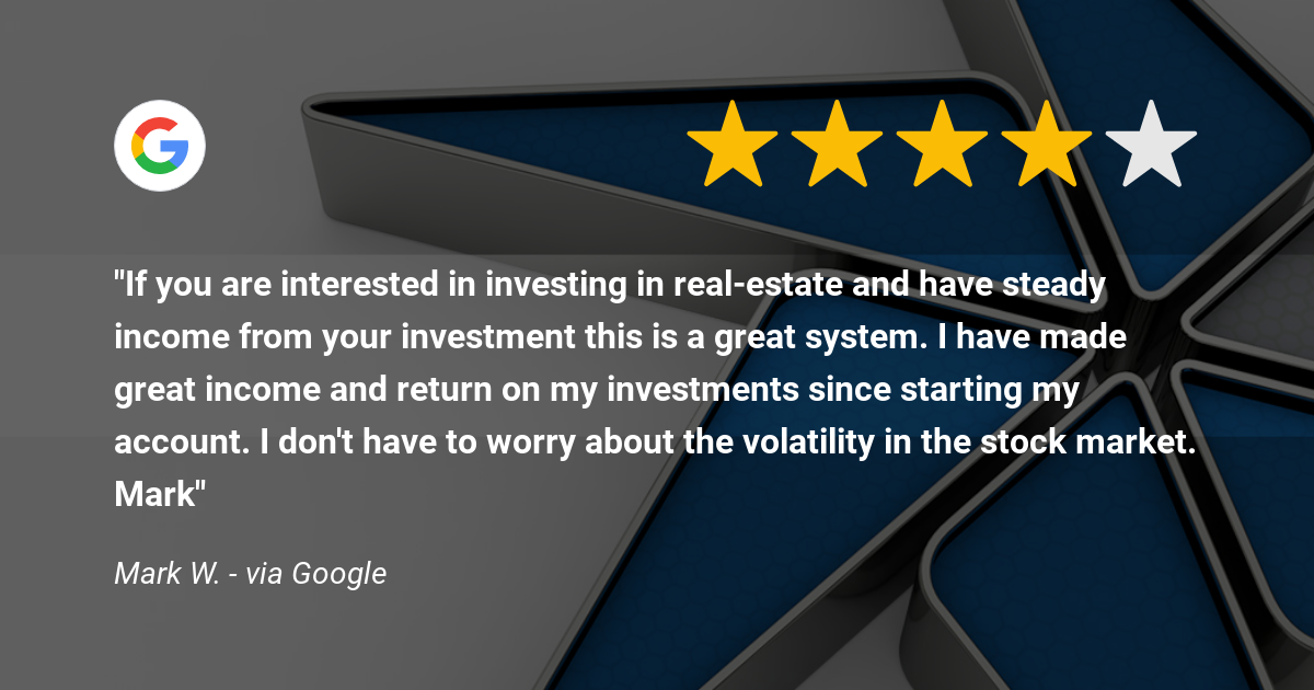 Equity Trust client, Mark W., customer review about having made great income and return on his investments with real estate in an SDIRA.