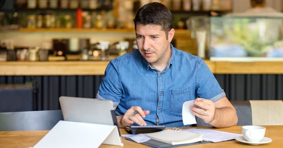 business owner reviewing expenses